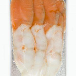 Ассорти семга слабосоленая / палтус холодного копчения нарезка, 200 г